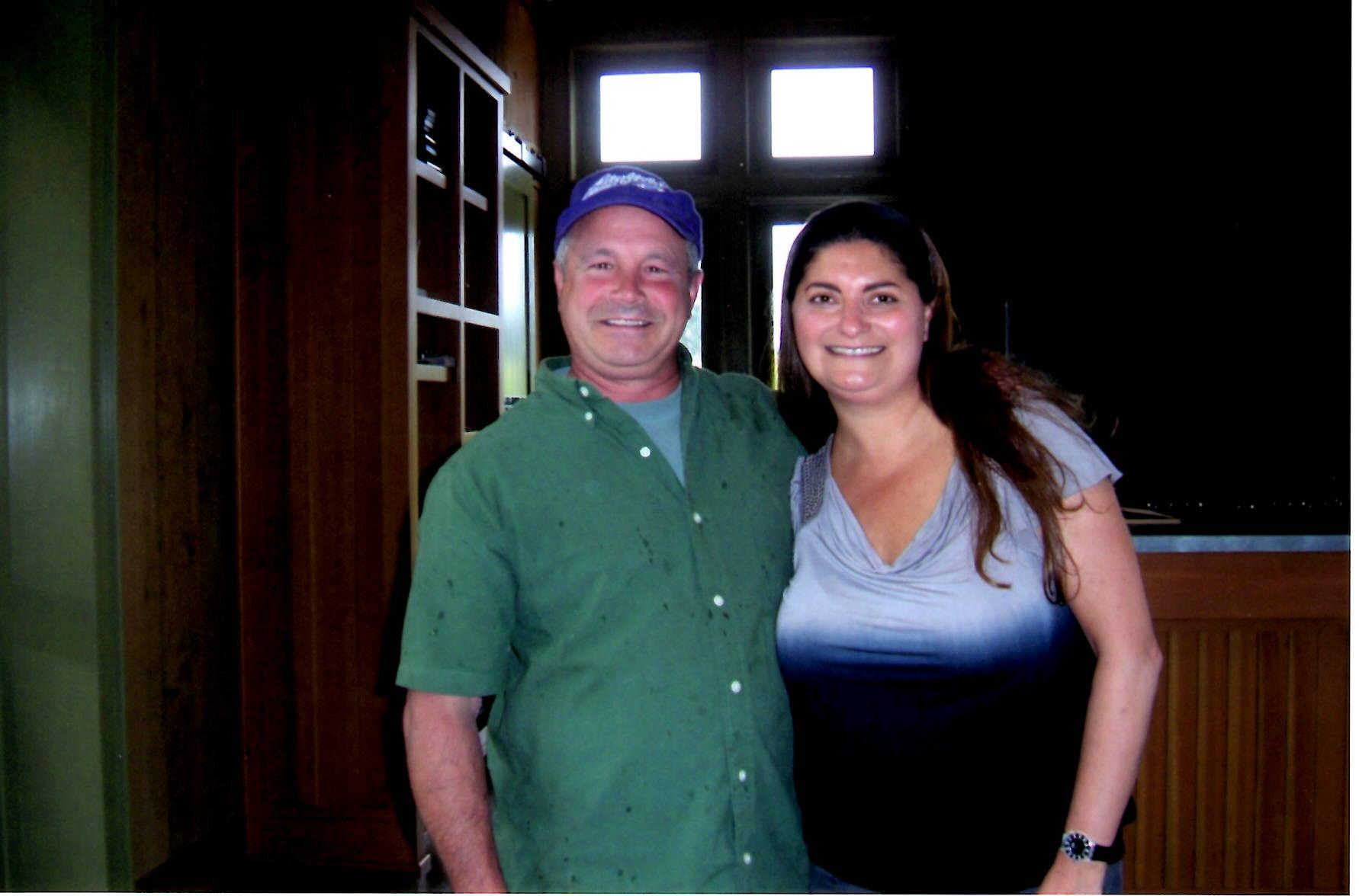 Kristin Savino with James Cahill winemaker soter wine